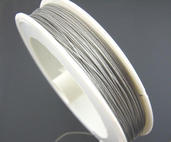 1 Rolle Schmuckdraht Stahldraht mit Nylon beschichtet (ca. 10 Meter) 0,45 mm